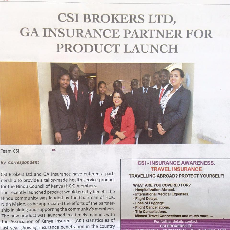 PRODUCT LAUNCH CSI
